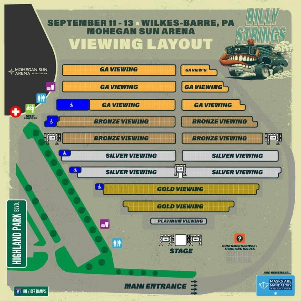 Billy Strings Parking Lot Map